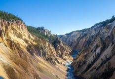 Matin chez Grand Canyon du Yellowstone image stock