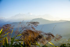 Matin d'Annapurna images libres de droits