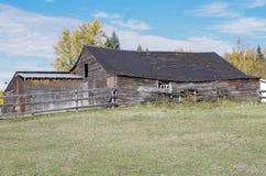Matin d'automne à la ferme canadienne Photographie stock libre de droits
