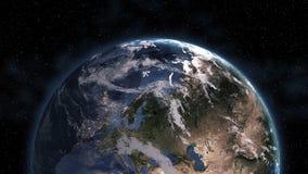 Matin 3D de la terre de planète Éléments de cette image meublés par la NASA illustration libre de droits