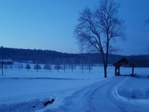 Matin d'hiver dans le Skook photographie stock libre de droits