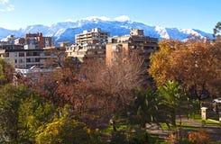 Matin d'hiver de Santiago de Chile photos libres de droits