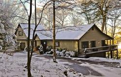 Matin d'hiver à la maison Image libre de droits
