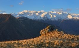 Matin dans Caucase photos stock