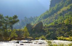 Matin dans Caucase photo libre de droits