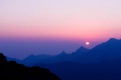 Matin dans haut Tatras, Slovaquie Photographie stock libre de droits
