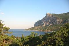 Matin dans la baie de Laspi, Crimée Photographie stock