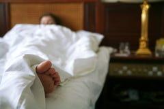 Matin dans la chambre d'hôtel Photo stock
