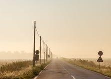 Matin dans la province italienne d'Emilia Romagna Photographie stock