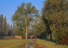 Matin dans la province italienne d'Emilia Romagna Photos stock