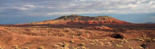 Matin dans le désert peint Photographie stock