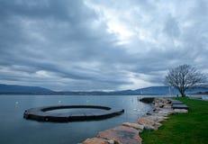 Matin dans le lac Genève Photo libre de droits