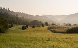 Matin dans les Carpathiens Photo libre de droits