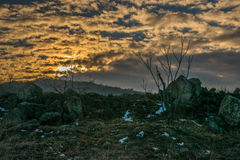 Matin dans les montagnes Photographie stock libre de droits