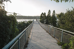 Matin de Danube Photographie stock