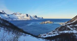 Matin de Husoy, Senja, Norvège Photo libre de droits