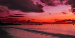 Matin de l'Océan Indien Photographie stock libre de droits
