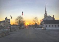 Matin de la Nouvelle Angleterre Photographie stock libre de droits