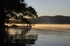 Matin de lac Squam Photos stock