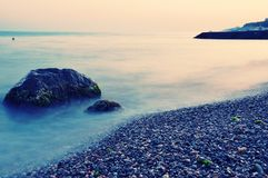 Matin de mer calme Photographie stock libre de droits