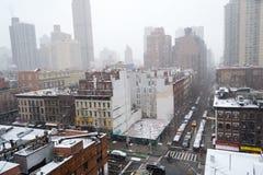Matin de Milou d'un dessus de toit dans NYC Photographie stock