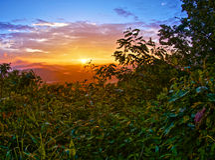 Matin de montagne de Whiteside Photographie stock