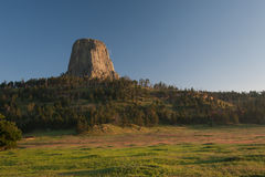 Matin de pins de volcan de Tover Wyoming de diables Images stock