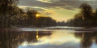 Matin de rivière de Maumee Image libre de droits