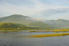 Matin de rivières Photographie stock libre de droits