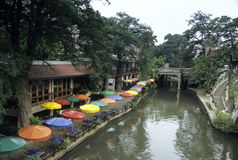 Matin de San Antonio Riverwalk Photos stock