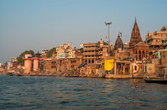 Matin de Varanasi Photo libre de droits