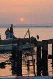 Matin des pêcheurs image libre de droits