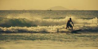 Matin du ` s de surfer Photographie stock