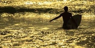 Matin du ` s de surfer Image stock