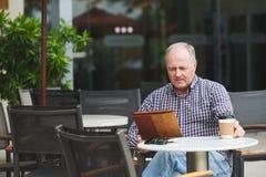Matin en café Photo libre de droits