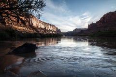 Matin en canyon de labyrinthe, Utah, Etats-Unis image libre de droits