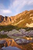 Matin en montagnes géantes Photo libre de droits