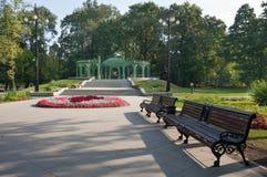 Matin ensoleillé d'automne en parc Image libre de droits