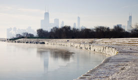 Matin glacial Chicago photographie stock libre de droits