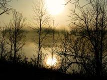 Matin grand de rivière photo libre de droits