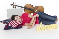 Matin heureux après des rêves heureux Photos libres de droits