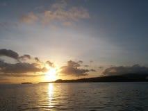 Matin Indonésie de mer de lanscape de lever de soleil beau image libre de droits