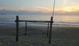 Matin la plage Images libres de droits