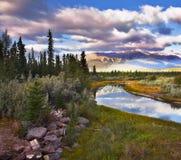 Matin magnifique dans la réserve au Canada Images libres de droits