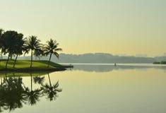Matin paisible au réservoir inférieur Singapour de Seletar Photographie stock