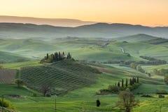 Matin paisible en Toscane Photo libre de droits