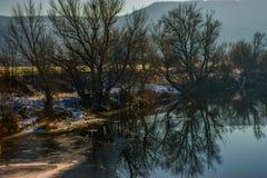 Matin par la rivière Photo libre de droits