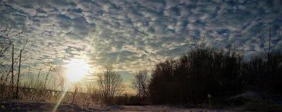 Matin pendant l'hiver images stock