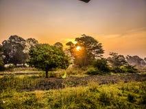 Matin près de fort Pune de sinhgad images libres de droits