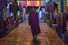 Matin Puja chez Samstanling Gompa dans Ladakh, Inde photographie stock